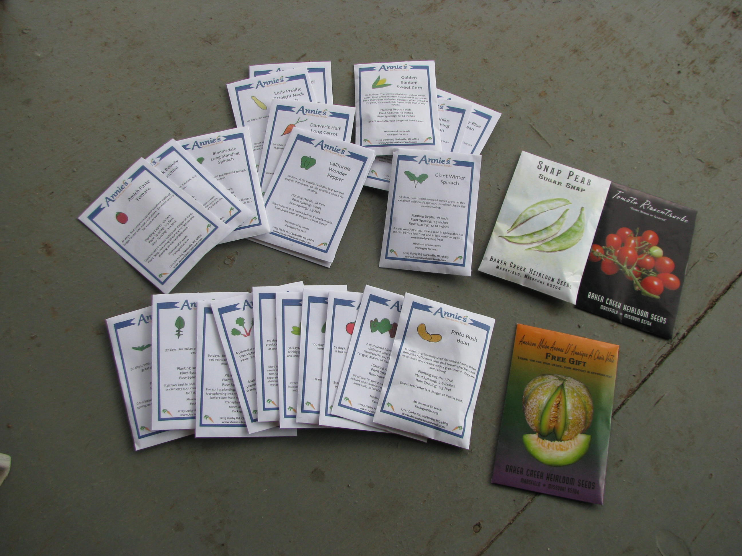 2013 Seeds for the Garden